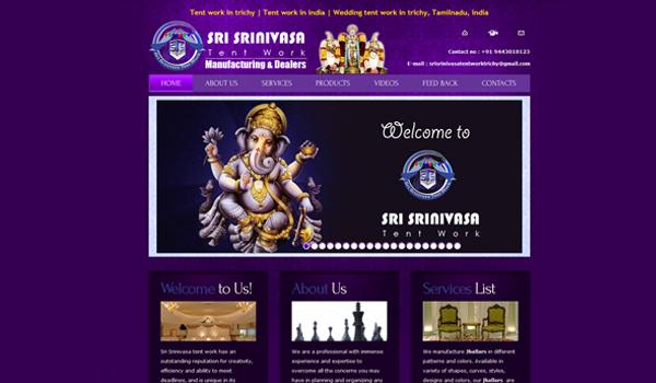 srisrinivasatentwork-website development in trichy [tiruchirappalli]