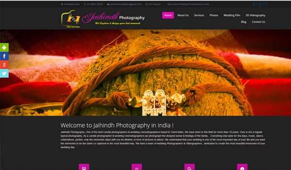 jaihindhphotography ,photography websites design in madurai chennai coimbatore