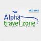 airline travel agency logo designing in chennai,india | Alpha travel zone in chennai