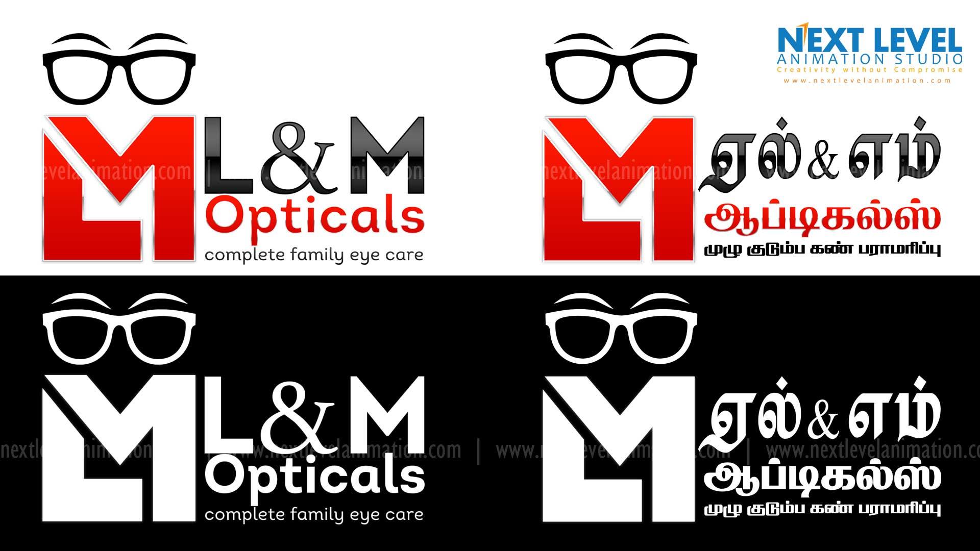 logo design in madurai   LM opticals in madurai